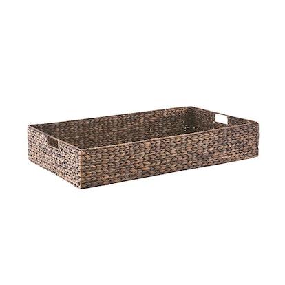 Mocha Water Hyacinth Coffee Table/Under Bed Bin