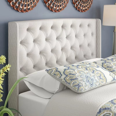 Riley Upholstered Wingback Headboard