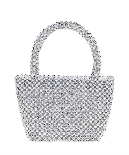 Silver Beaded Bag