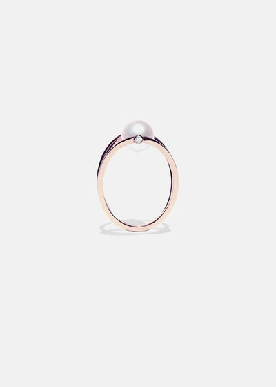 Pearl Oasis Ring in Rose Gold