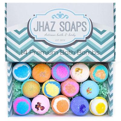 Jhaz Soaps Bath Bomb Gift Set (14 Pack)