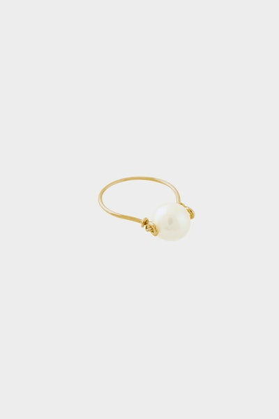 Pearl Ring | 9k Yellow Gold