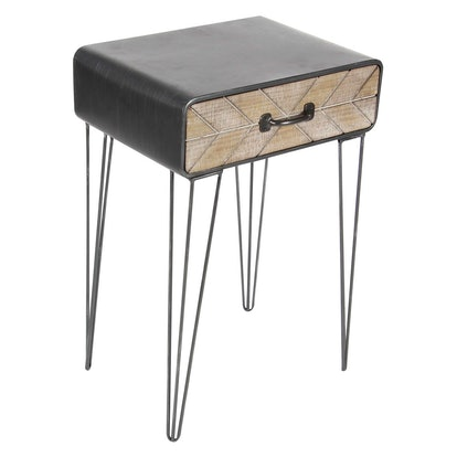 Olivia & May Metal and Wood End Table