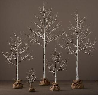 Birch Winter Wonderland Trees - 7'