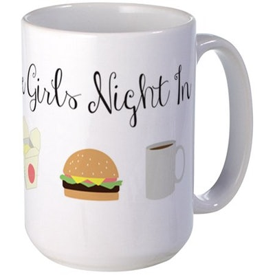 CafePress - Gilmore Girls Night In Mugs - 15 oz Ceramic Large Mug