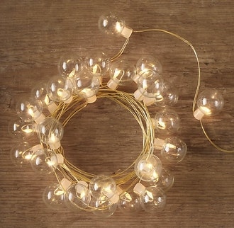 Northern Starlit Clear Glass String Lights - Gold - 50'