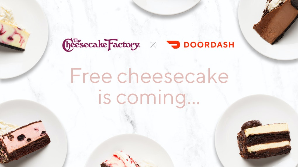 Super Doordashs Free Cheesecake From The Cheesecake Factory Is The Personalised Birthday Cards Beptaeletsinfo