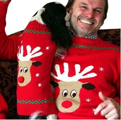 Matching Dog & Owner Christmas Jumpers