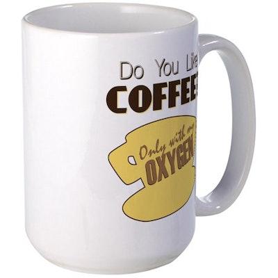 CafePress - Gilmore Girls: Coffee Lovers Large Mug - 15 oz Ceramic Large Mug