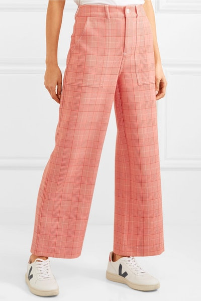 Garvey Checked Candy Wide-Leg Pants