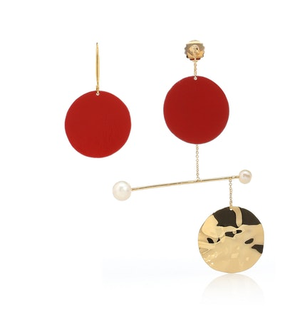 Mobile Rouge Gold Earrings