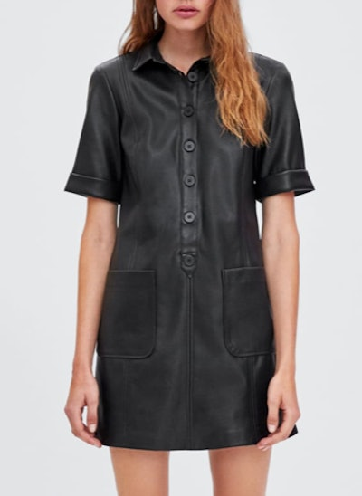 Leather-Look Dress
