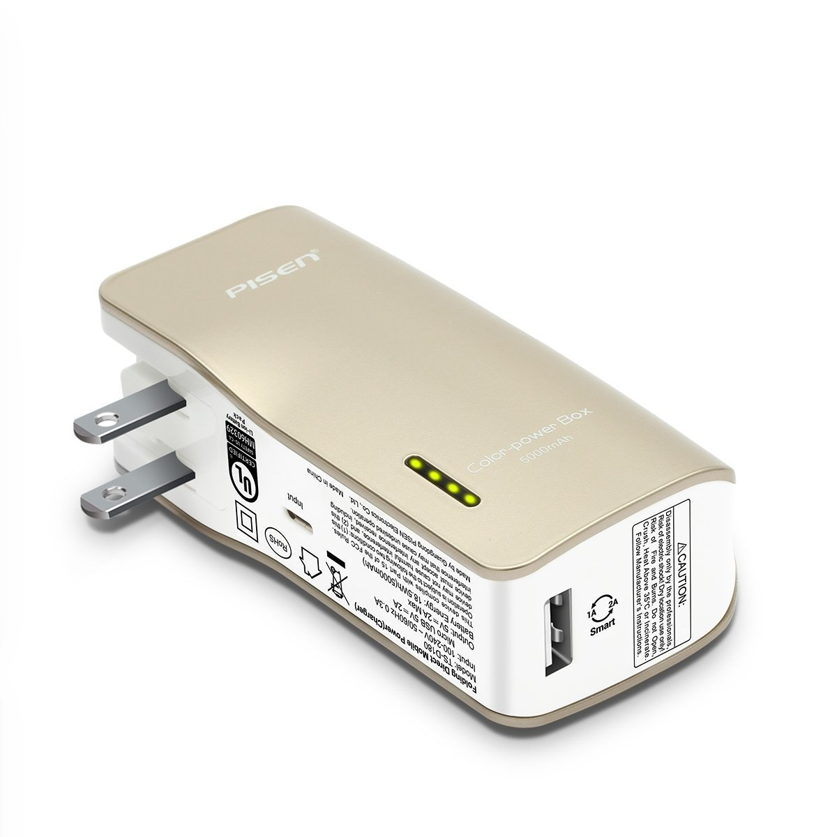 Pisen 2-in-1 Portable Charger