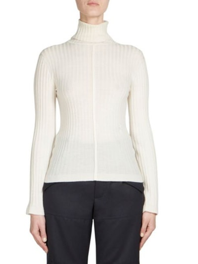 Wool Rib-Knit Turtleneck