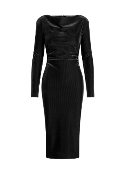 Hudson Corded Velveteen Midi Dress