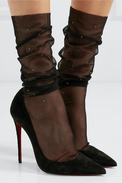 Adeline Studded Mesh Socks