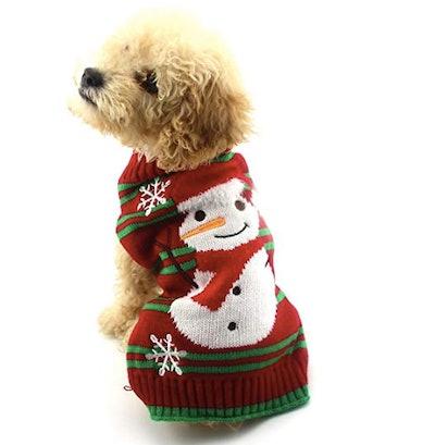 Dog Snowman Sweater