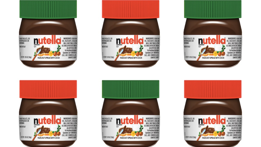These Mini Christmas Nutella Jars Selling For $1 Are The