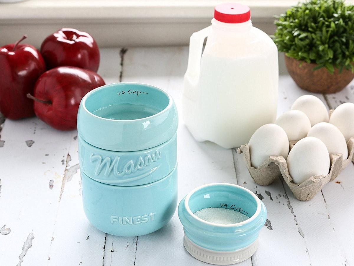 Mason Jar Measuring Cups Set