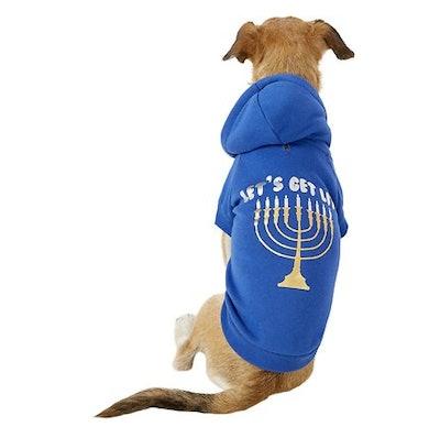 Let's Get Lit Menorah Dog Sweater