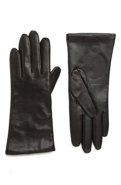 Cashmere Lined Leather Touchscreen Gloves