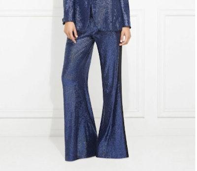 Maida Wide-Leg Sequin Pant