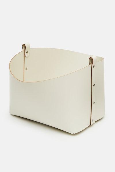 Pinetti Small Ovo Basket - Cream with Cream Leather Straps