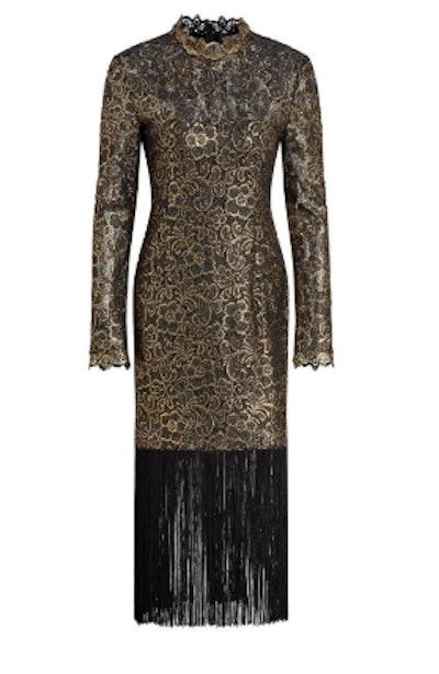 Hunter Metallic Fringe Dress