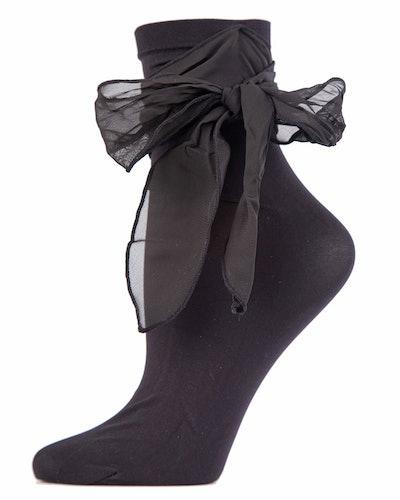 Ballerina Chiffon Bow Ankle Socks