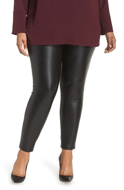 Vince Camuto Stretch Faux Leather Skinny Pants