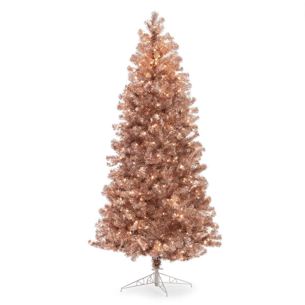 Belham Living Metallic Pre-Lit Christmas Tree