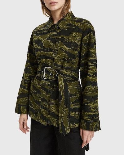 Belted Camo Jacket