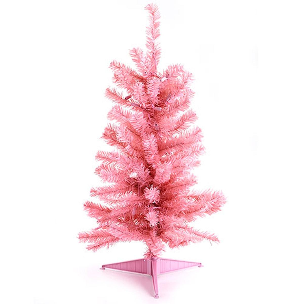 Pre-Lit Pink Christmas Tree
