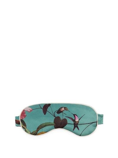 Jemma Floral-Print Silk Eye Mask