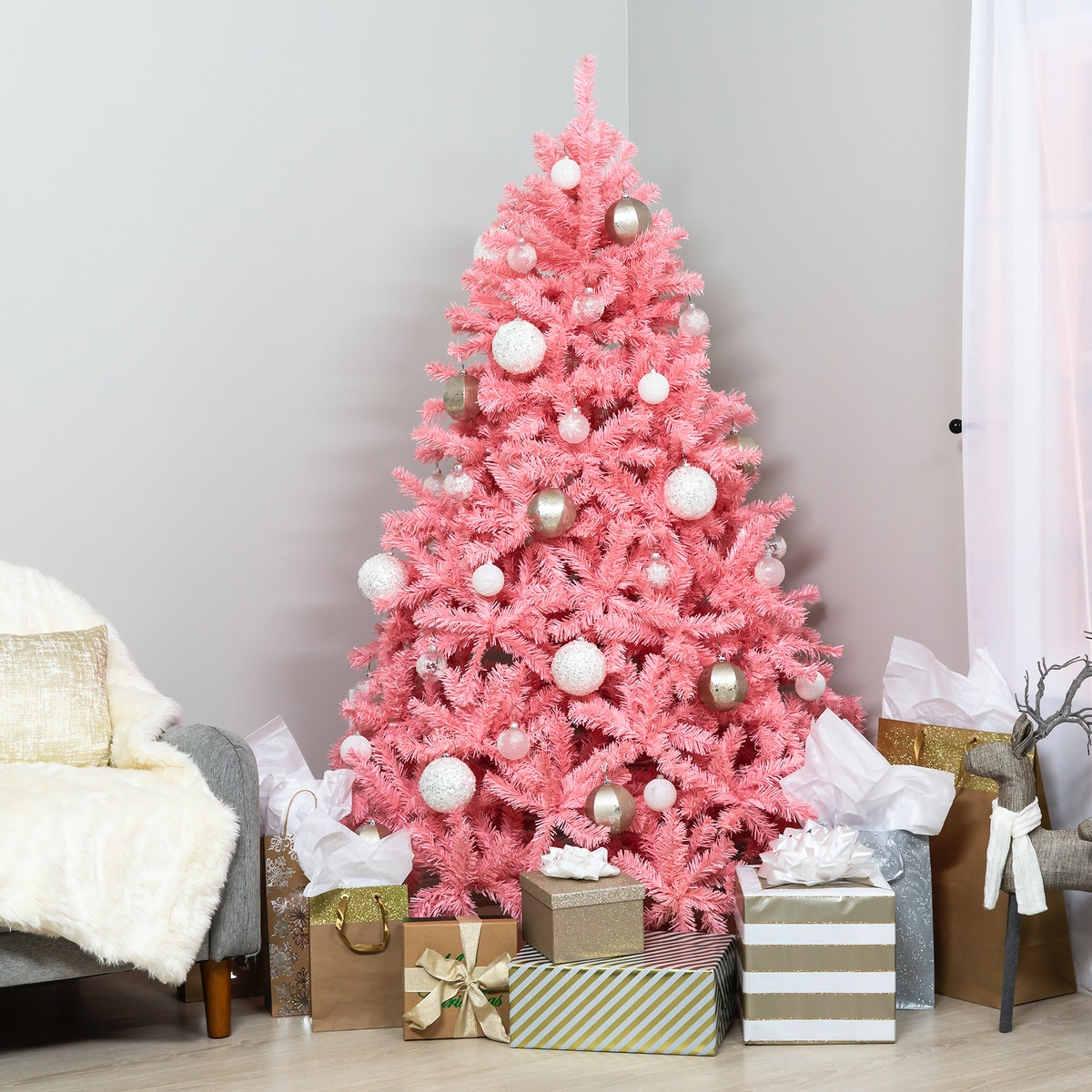 Artificial Christmas Full Fir Tree - Pink
