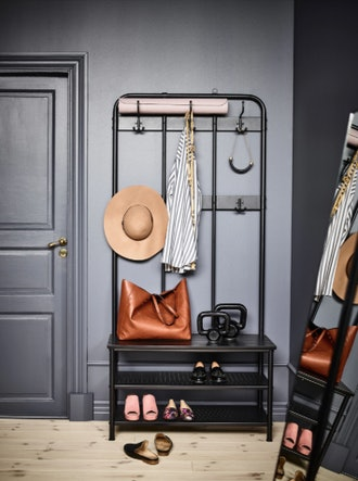 PINNIG Coat Rack with Shoe Storage Bench