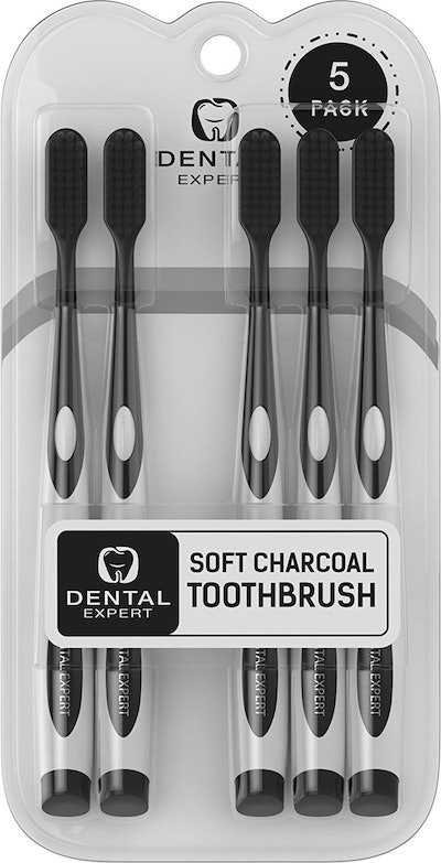 Dental Expert Soft Charcoal Toothbrushes  (5 Pack)