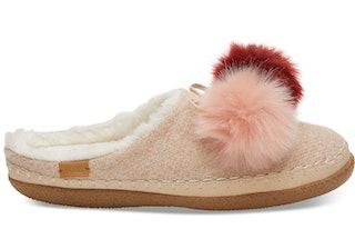 Rose Cloud Pom Pom Women's Ivy Slippers