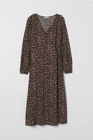 Jacquard-weave Wrap Dress