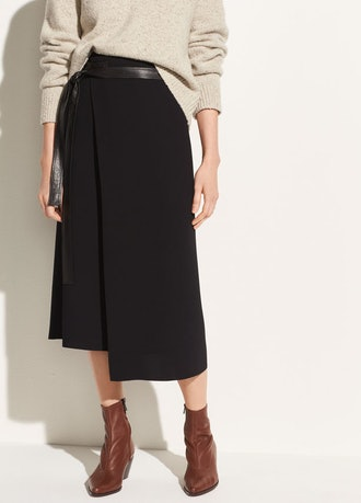 Belted Wrap Skirt