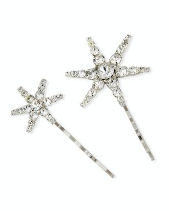 Orion Swarovski Crystal Star Bobby Pins, Set of 2