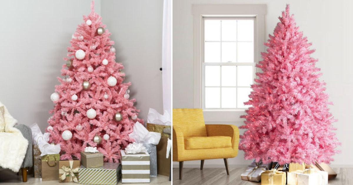 Millennial Pink Christmas Trees Are Here To Make All Your Instas Pretty In Pink