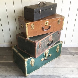 leapinglemming Vintage Trunks and Suitcases (set of 4)