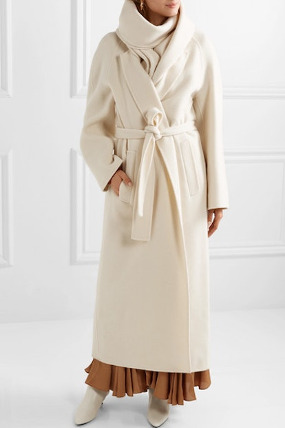 The Row Tooman Cashmere And Wool-Blend Coat And Scarf