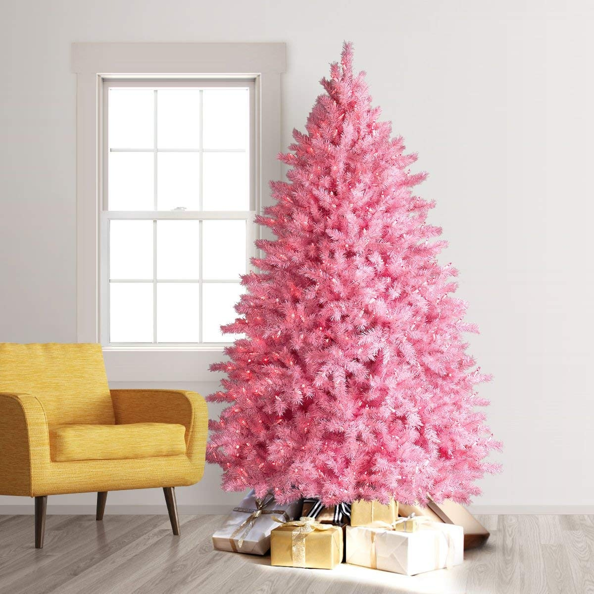 Treetopia Pretty in Pink Artificial Christmas Tree, Pink Lights