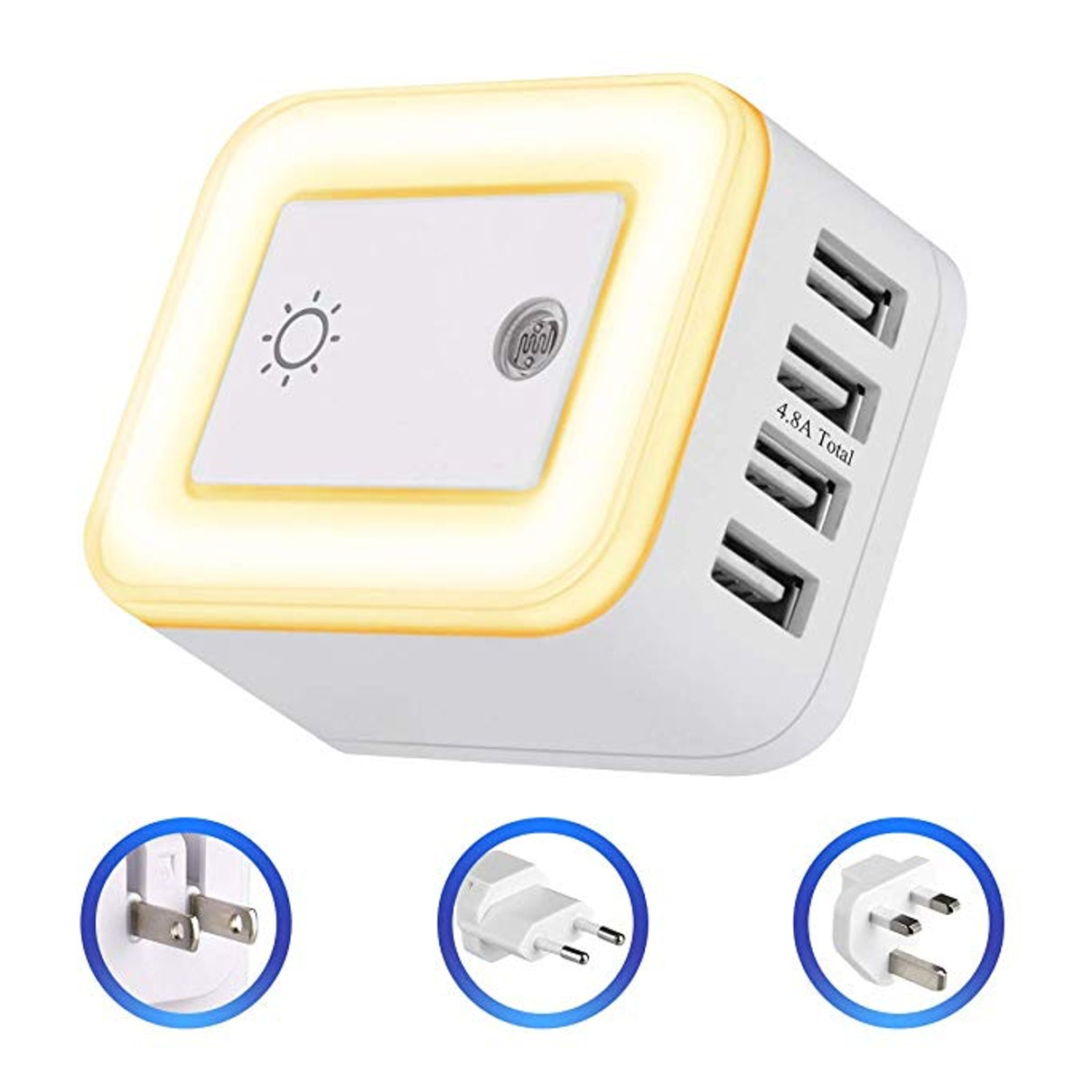 Powrui USB Wall Charger Night Light And Travel Plug