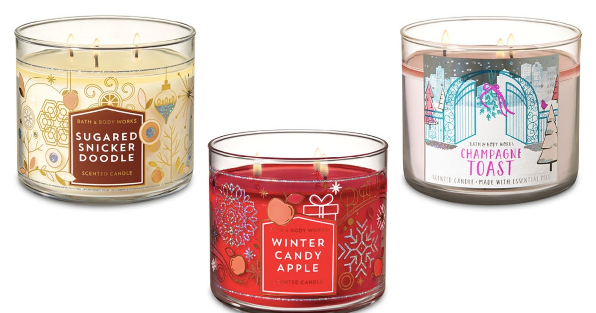 bath body works 39 candle day sale is practically giving away 3 wick candles. Black Bedroom Furniture Sets. Home Design Ideas