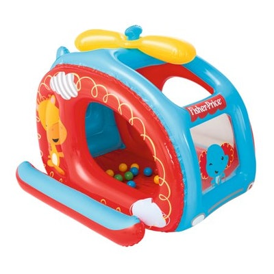 Fisher Price Inflatable Helicopter Vinyl Kids Play Ball Pit w/ Balls