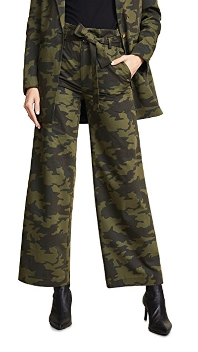 Camo Paperbag Trousers