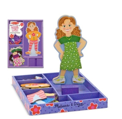 Maggie Leigh Magnetic Wooden Dress-Up Doll Pretend Play Set